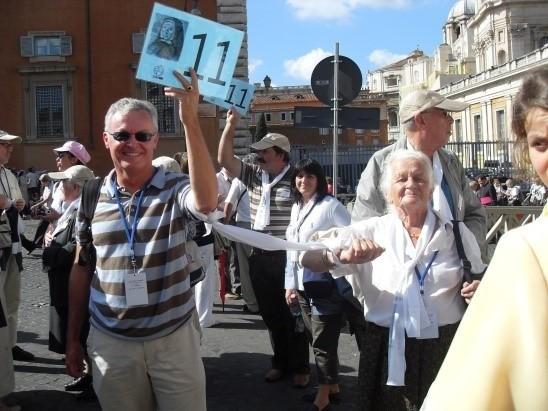 Association Jeanne Jugan lors de la Canonisation de Jeanne Jugan à rome